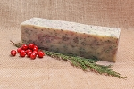 Merry Mistletoe Soap Loaf  (Spruce and Cranberry)