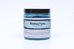 Monkey Farts Sugar Scrub Retail Ready - Aqua Blue - Labeled