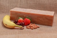 Banana Berry Almond Soap Loaf
